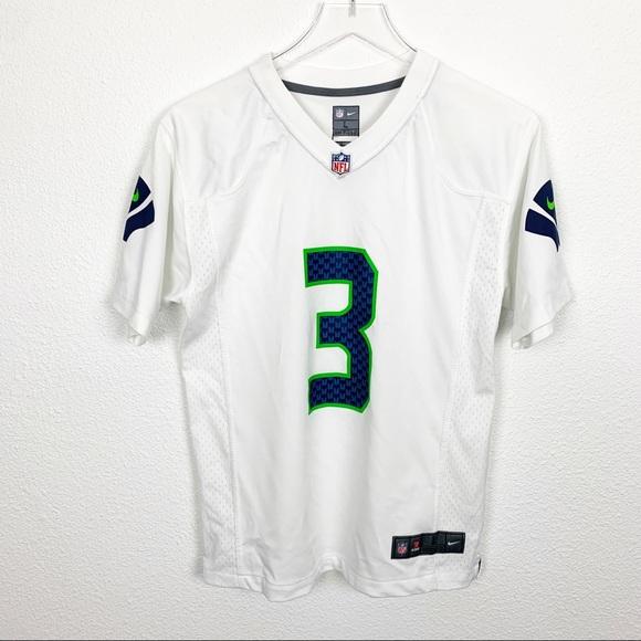 Women's NFL Seattle Seahawks White Wilson Jersey L